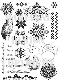 Marianne Design - Eline Pellinkhof - Clearstamp - Let it snow - EC0133