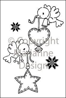 Marianne Design - Eline Pellinkhof - Clearstamp - Flying decorations - EC0134