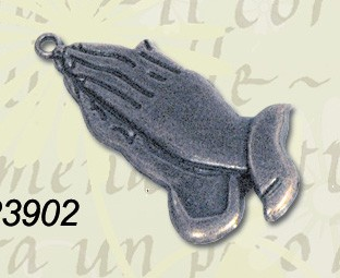 CreaMotion - Embellishment - Praying hands: Zilver - BM23902