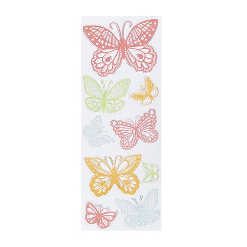 Martha Stewart - Clearstamp - Doily Lace Butterflies - 42-24014