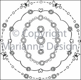 Marianne Design - Don & Daisy - Clearstamp - Daisy decorations circles - DDS3314