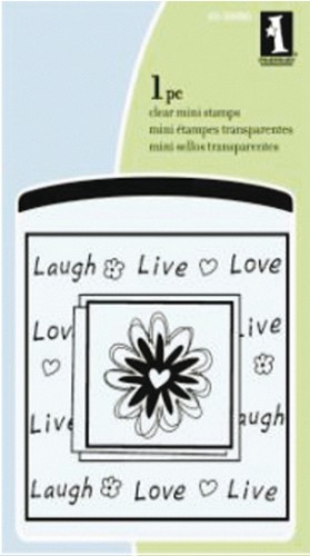 Inkadinkado - Clearstamp - Live love Laugh mini - 60-30080