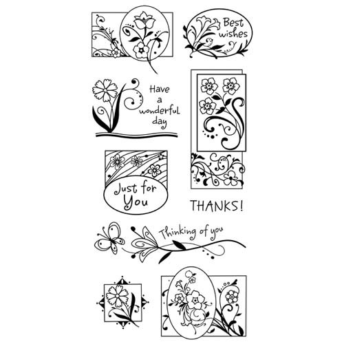 Inkadinkado - Clearstamp - Garden Greetings - 60-30123