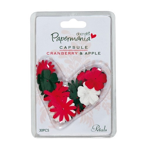 Papermania - Paper Flowers: Cranberry & Apple - PMA3681109