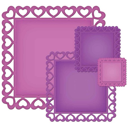 Spellbinders - Die - Nestabilities - Decorative Elements - Heart Squares