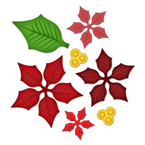 Spellbinders - Die - Shapeabilities - Layered Poinsettia
