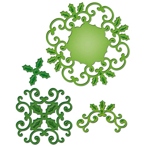 Spellbinders - Die - Shapeabilities - Holly Motifs