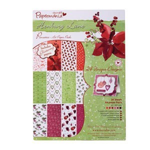 Papermania - Paperpack - Henbury Lane - Poinsettia - PMA1607306