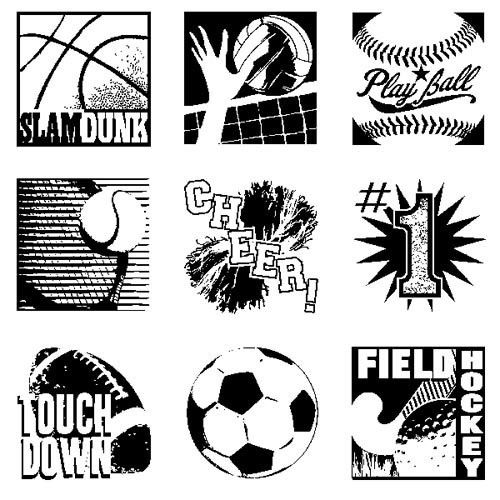 Inkadinkado - Clearstamp - Sports Inchie Bundle - 60-30530