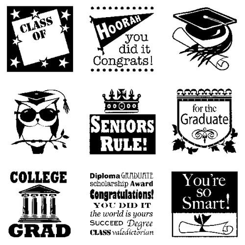 Inkadinkado - Clearstamp - Graduation Inchie Bundle - 60-30522