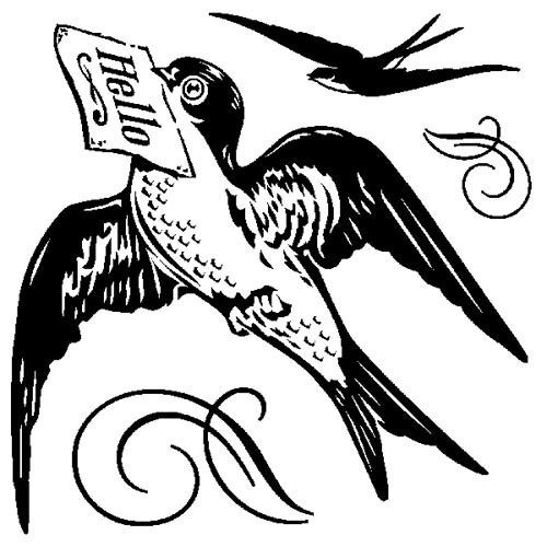 Inkadinkado - Clearstamp - Hello Bird (mini) - 60-30460