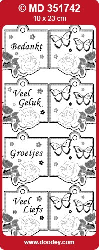 Doodey - Stickervel - Transparant - Mini Kaart: Goud - MD351742