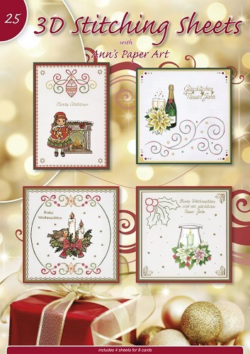 Card Deco - Borduurkaartenboek - Stitching sheets - No. 25