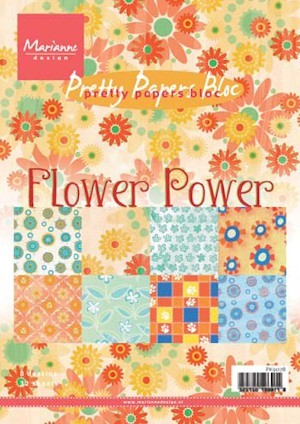 Marianne Design - Paperpack - Pretty Papers - Flower Power - PK9078