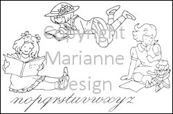 Marianne Design - Tiny`s - Clearstamp - Girls and Magazines - TC0818