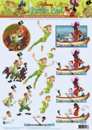 Studio Light - Disney - 3D-knipvel A4 - Peter Pan - STAPPP01