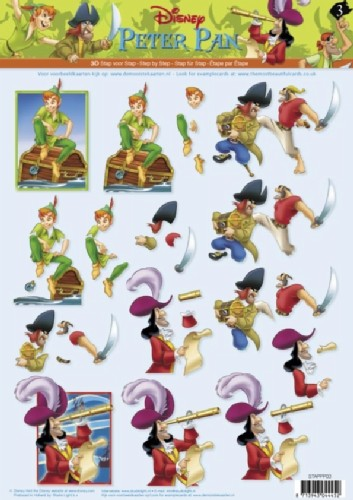 Studio Light - Disney - 3D-knipvel A4 - Peter Pan - STAPPP03