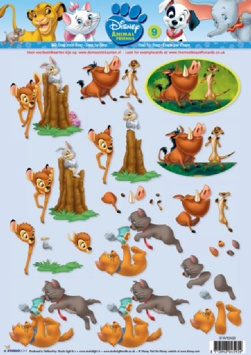 Studio Light - 3D-knipvel A4 - Disney Animal Friends - STAPDA09