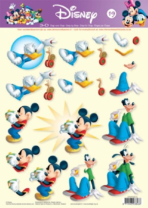 Studio Light - 3D-knipvel A4 - Disney - STAPDIS19
