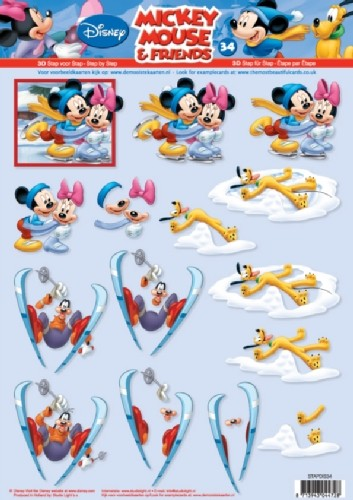 Studio Light - 3D-knipvel A4 - Mickey Mouse & Friends - STAPDIS34