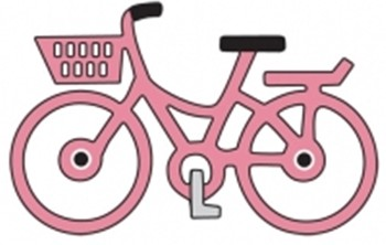 Cheery Lynn Design - Die - Little pink bicycle - A195