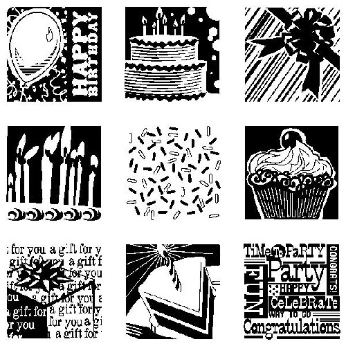 Inkadinkado - Clearstamp - Birthday - 60-30166