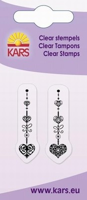 Kars - Clearstamp - 2 Heart Garlands - 180009/1052