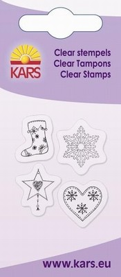Kars - Clearstamp - 4 Christmas shapes - 180009/1047
