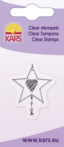 Kars - Clearstamp - Star with heart - 180009/1038