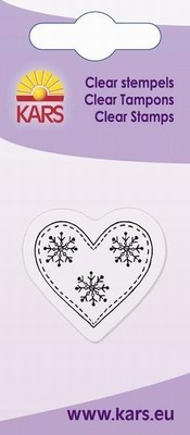 Kars - Clearstamp - Heart & snow crystal - 180009/1034
