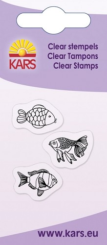 Kars - Clearstamp - 3 fish - 180009/1022