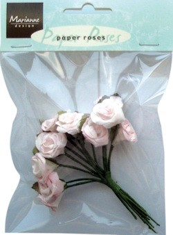 Marianne Design - Paper Roses: Light pink - JU0849