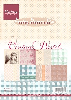 Marianne Design - Paperpack - Pretty Papers - Vintage pastels - PK9080