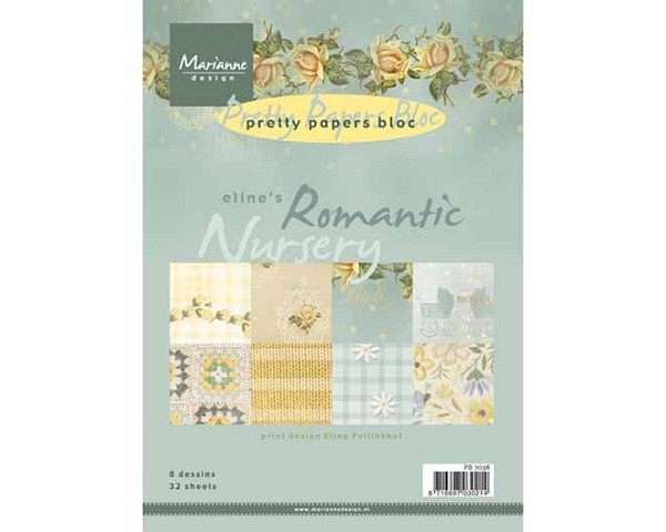 Marianne Design - Paperpack - Pretty Papers - Romantic Nursery - PB7038