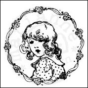 Marianne Design - Cling Stamp - Vintage Ladies - Flower girl - CS0848