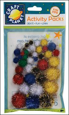 Craft Planet - Glitterpompons - CPT6621101