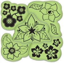 Inkadinkado - Cling Stamp - Flowers - 60-60001