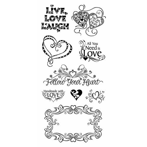 Inkadinkado - Clearstamp - Love and Friendship - 99644