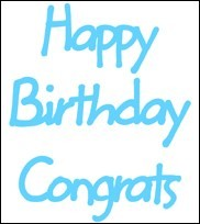 Marianne Design - Die - CreaTables - Happy Birthday / Congrats - LR0223