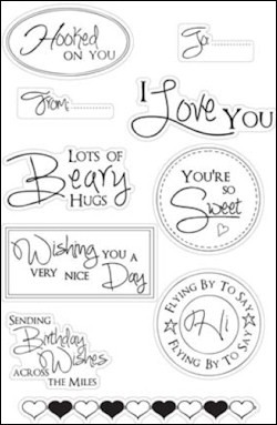 Marianne Design - Stampfairy Design - Clearstamp - Sentiments - SF1113