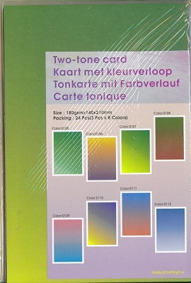 Two-tone card