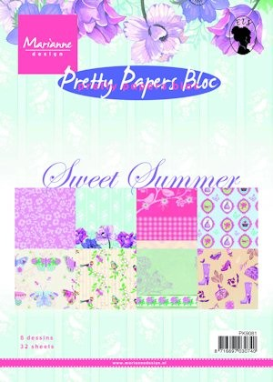 Marianne Design - Paperpack - Pretty Papers - Sweet Summer - PK9081