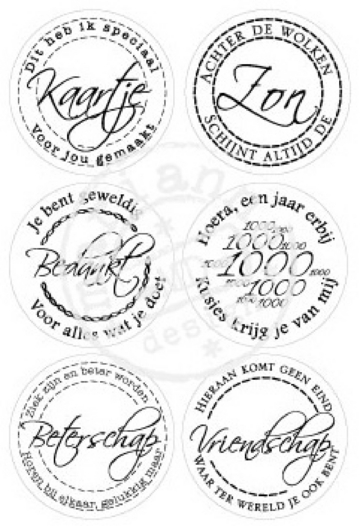 Marianne Design - Clearstamp - Teksten rond - CS0853