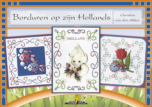Card Deco - Hobbydols - No. 75 - Borduren op zijn Hollands