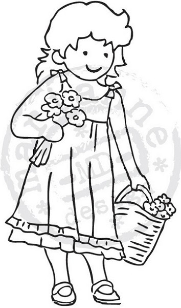 Marianne Design - Tiny`s - Clearstamp - Flowergirl - TC0820