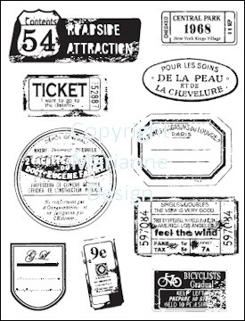 Marianne Design - Clearstamp - Labels & Tickets - CS0856
