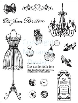 Marianne Design - Clearstamp - Fashion - CS0857