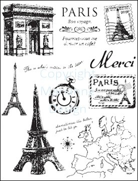 Marianne Design - Clearstamp - Paris - CS0859