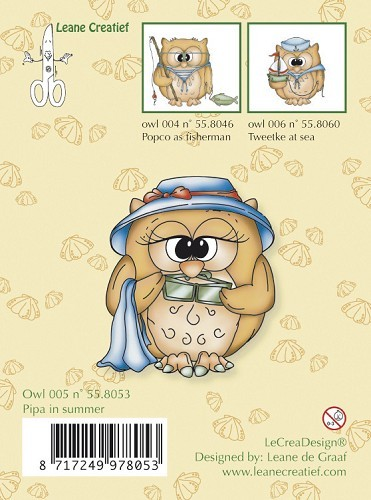 Leane Creatief - Clearstamp - Pipa in summer - 55.8053