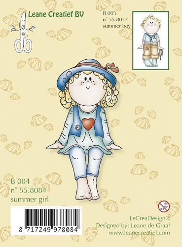 Leane Creatief - Clearstamp - Summer girl - 55.8084